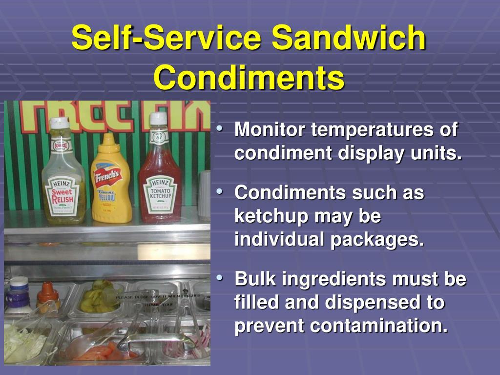 Self-Service Sandwich Condiments