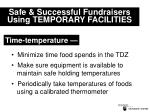 safe successful fundraisers using temporary facilities19