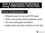 safe successful fundraisers using temporary facilities20