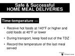 safe successful home meal deliveries