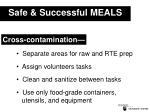safe successful meals4