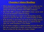 changing column headings