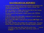 master detail reports