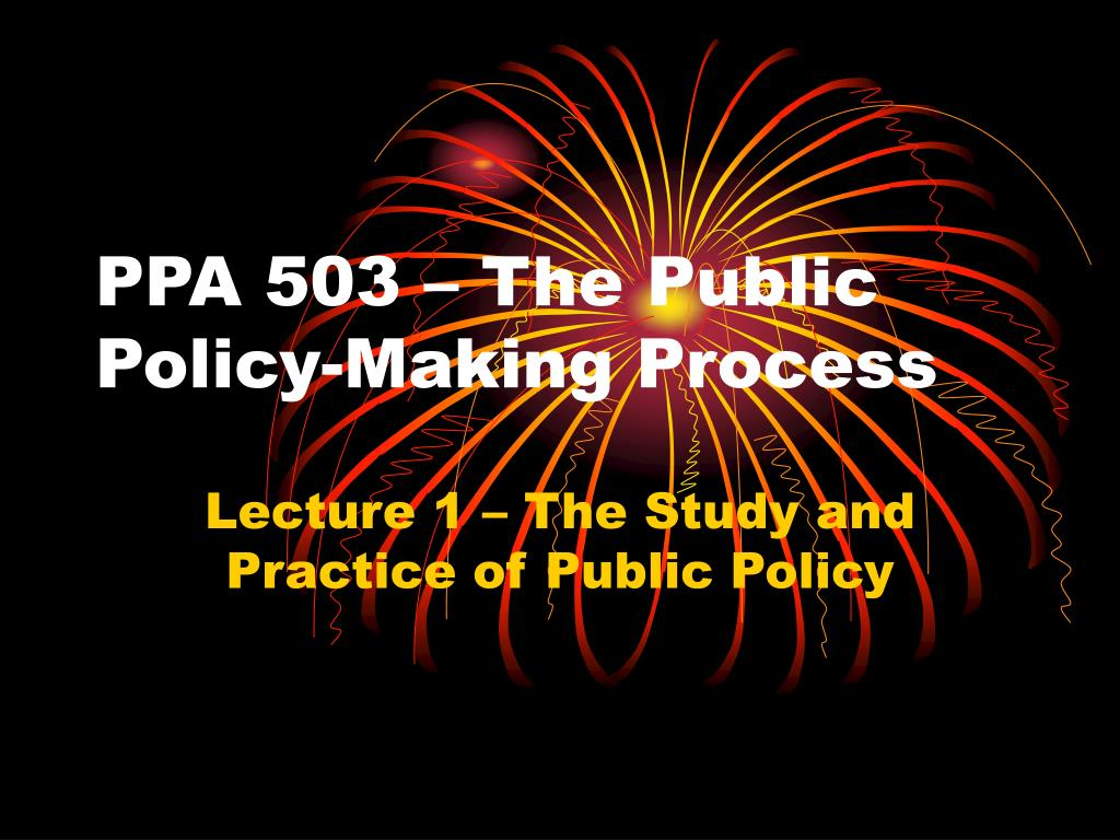 ppa 503 the public policy making process l.