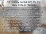 10 healthy eating tips for the busy college student