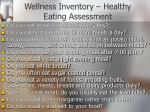 wellness inventory healthy eating assessment