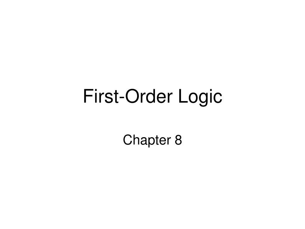 first order logic l.