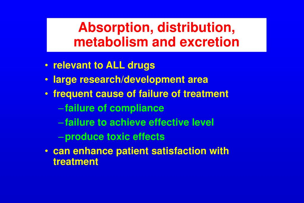 absorption distribution metabolism and excretion l.