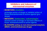 inhibitors and inducers of microsomal enzymes