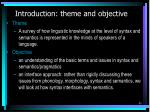 introduction theme and objective
