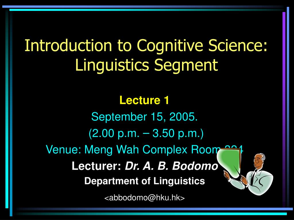 introduction to cognitive science linguistics segment l.