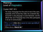 meaning level of pragmatics56