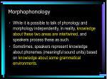 morphophonology