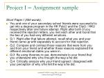 project i assignment sample