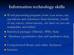 information technology skills