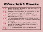 historical facts to remember