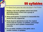 99 syllables