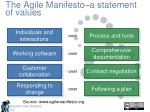 the agile manifesto a statement of values