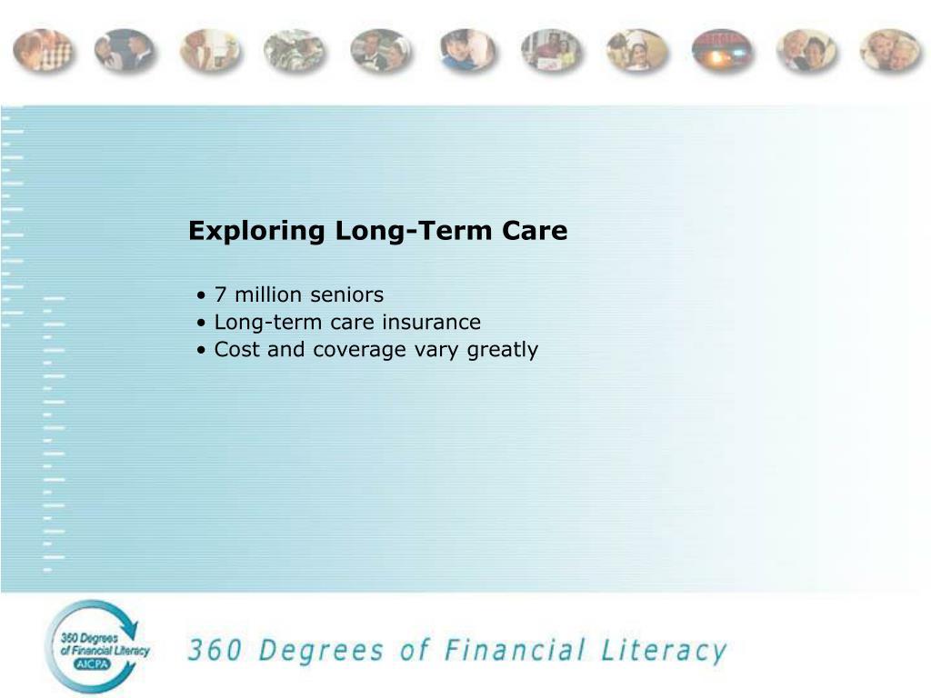 Exploring Long-Term Care