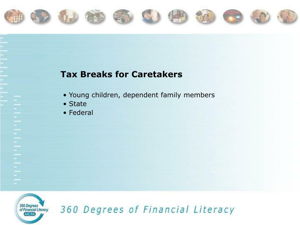 Tax Breaks for Caretakers