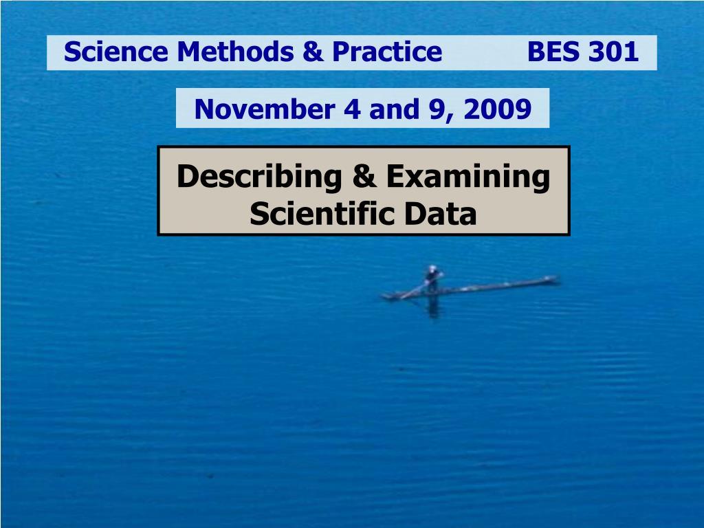 describing examining scientific data l.
