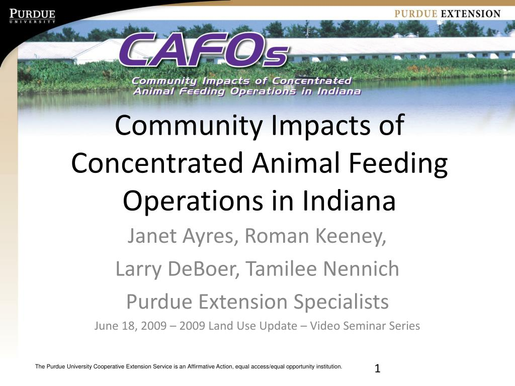 community impacts of concentrated animal feeding operations in indiana l.