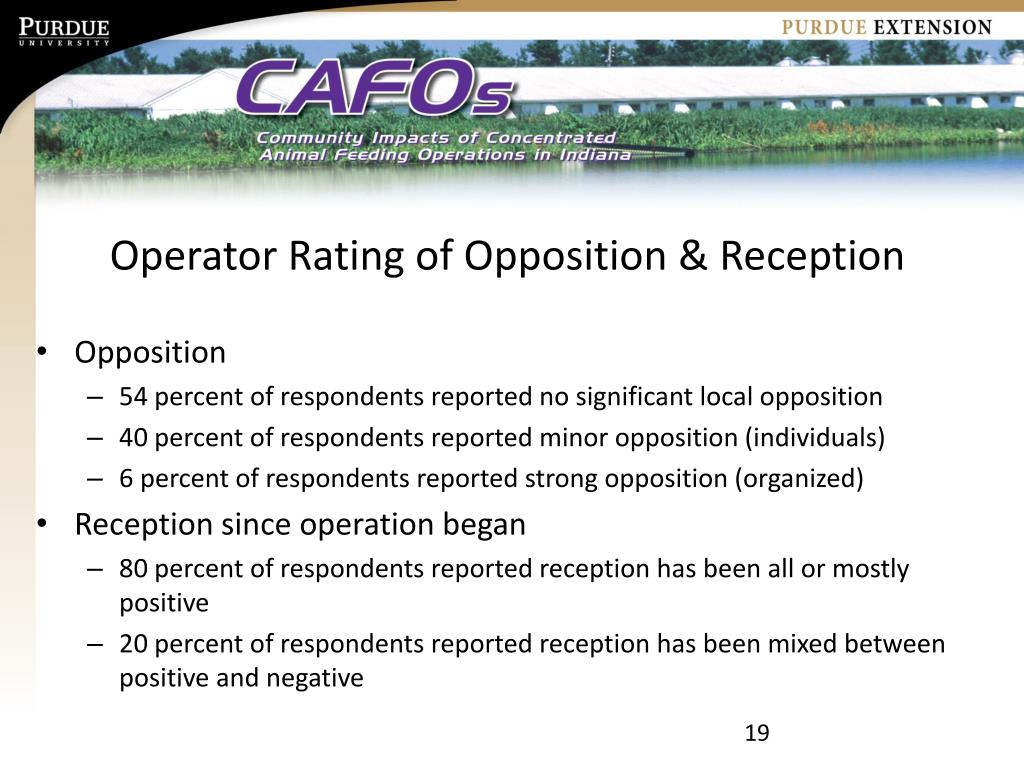 Operator Rating of Opposition & Reception