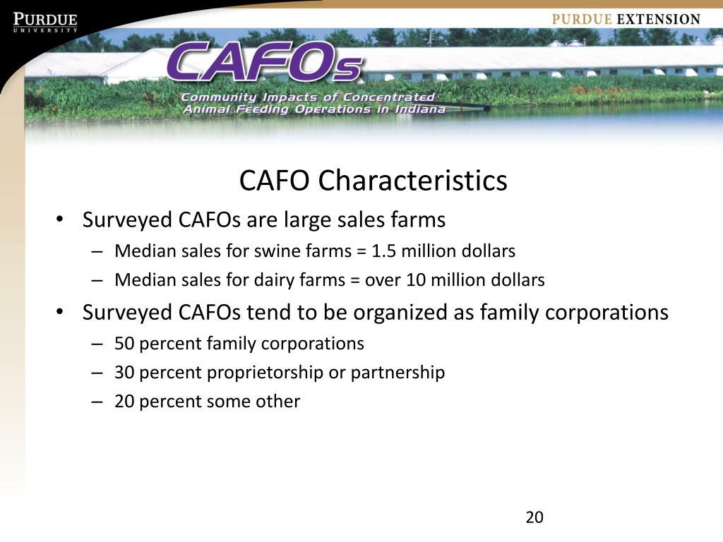 CAFO Characteristics