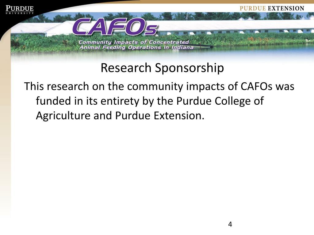 Research Sponsorship