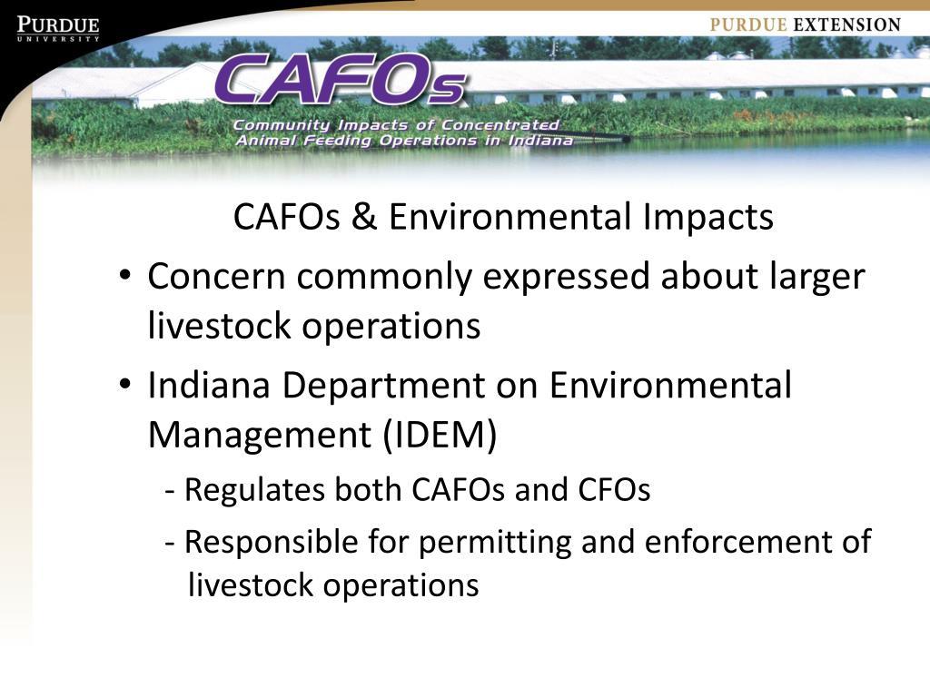 CAFOs & Environmental Impacts