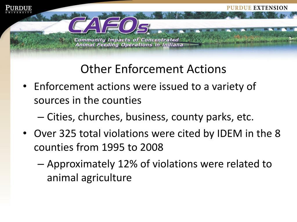 Other Enforcement Actions