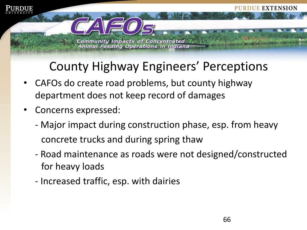 County Highway Engineers' Perceptions