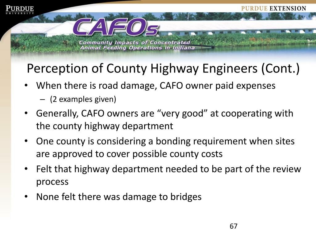 Perception of County Highway Engineers (Cont.)