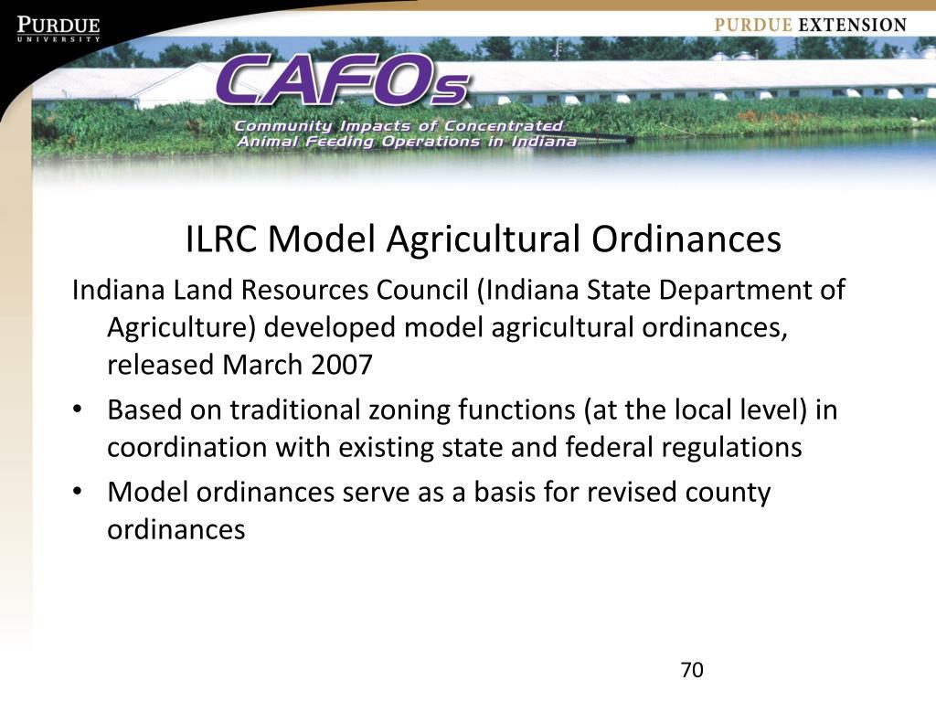 ILRC Model Agricultural Ordinances
