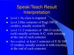 speak teach result interpretation12