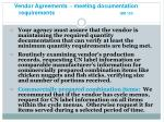 vendor agreements meeting documentation requirements gm 13c18