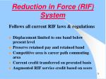 reduction in force rif system