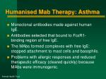 humanised mab therapy asthma