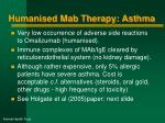 humanised mab therapy asthma3