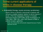 some current applications of mabs in disease therapy4