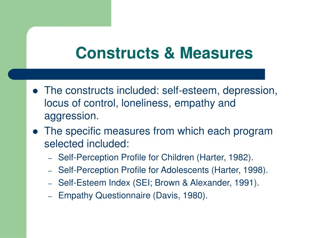 Constructs & Measures