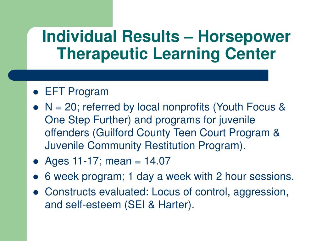Individual Results – Horsepower Therapeutic Learning Center