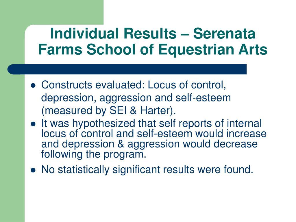 Individual Results – Serenata Farms School of Equestrian Arts