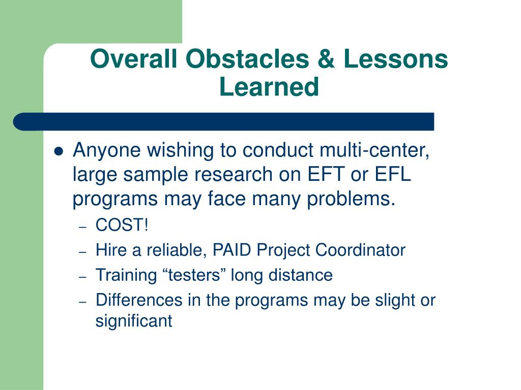 Overall Obstacles & Lessons Learned