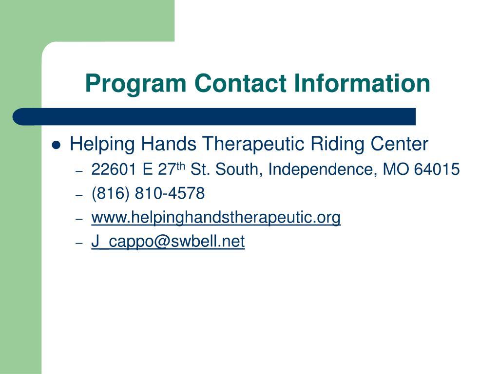Program Contact Information