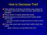 how to decrease theft