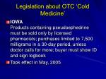legislation about otc cold medicine54
