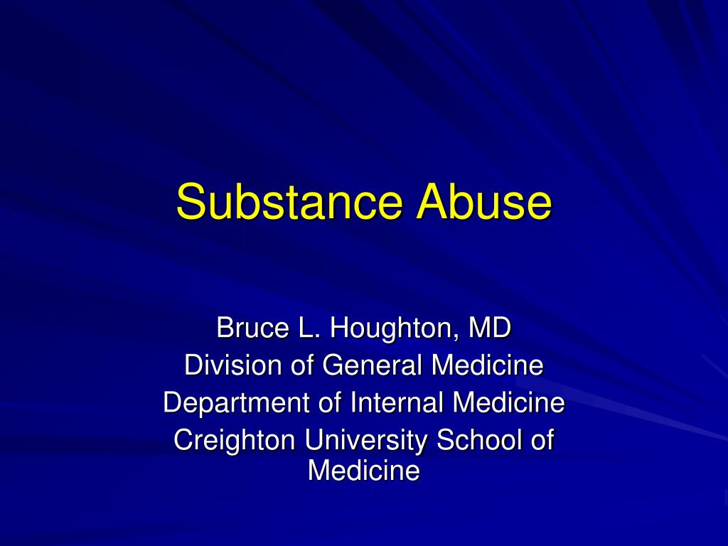substance abuse l.