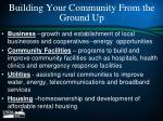 building your community from the ground up