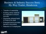 business industry success story hy way trailer henderson